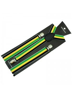 Mens Braces - Rasta Colours