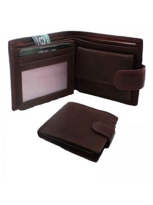 Mens Genuine Leather Wallet - Brown