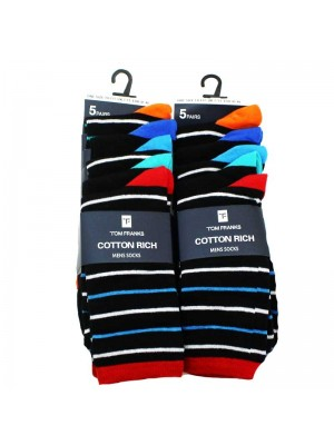 Mens Cotton Rich Striped Socks UK7-11