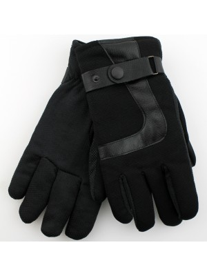Mens Black Handy Gripper Gloves - Assorted Sizes