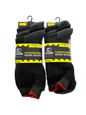 Wholesale Mens Hardwearing Work Socks - Assorted Colours