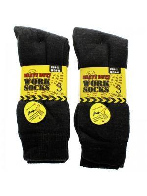 Mens Heavy Duty Work Socks - Grey