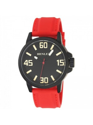 Wholesale Mens Henley 3D Dial Silicon Sports Watch - Red