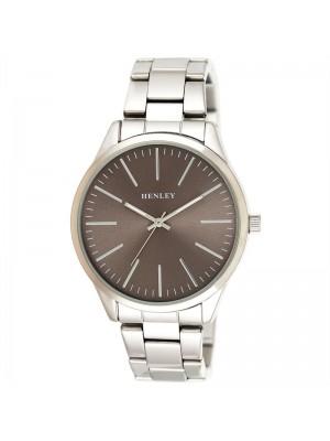 Wholesale Mens Henley Classic Bracelet Watch - Silver/Grey