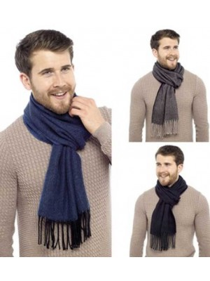 Wholesale Mens herringbone scarf with tassles - assorted colours
