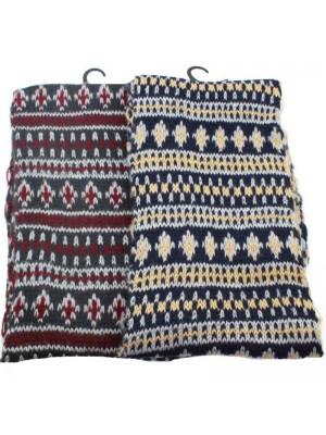Mens Fairsisle Printed Wool Scarf - Assorted Designs