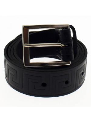 "Men's Embossed Belts 1.5"" Wide - Black (Medium)"