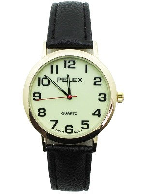 Wholesale Mens Pelex Classic Round Dial Leather Strap Watch