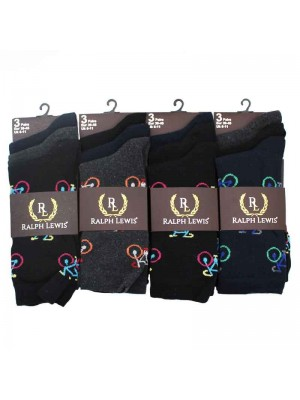 Mens Ralph Lewis Design Socks- 6-11
