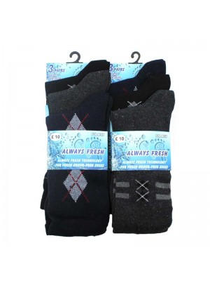 Mens Always Fresh Design Socks - UK6-11