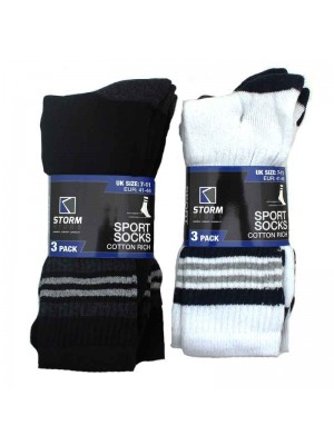 Mens Cotton Rich Sports Socks 7-11