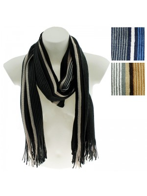 Mens Striped Design Scarves - Assorted Colours