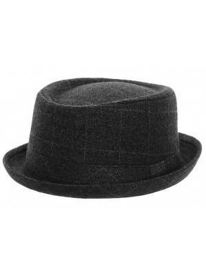 Adults Unisex Tweed Porkpie Hat - Asst. Sizes
