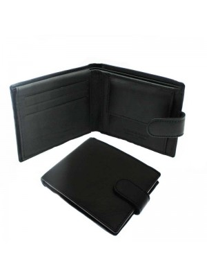 Mens Genuine Leather Black Wallet