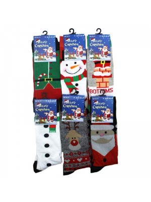 Mens Christmas Socks Assorted Design 6-11