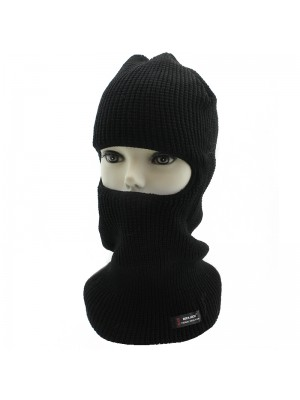 Mens 1 Hole RockJock Thermal Insulation Balaclava - Black