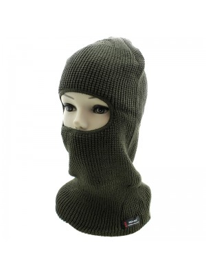 Mens 1 Hole RockJock Thermal Insulation Balaclava - Khaki