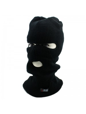 Mens 3 Hole RockJock Thermal Insulation Balaclava - Black