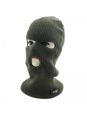Mens 3 Hole RockJock Thermal Insulation Balaclava - Khaki