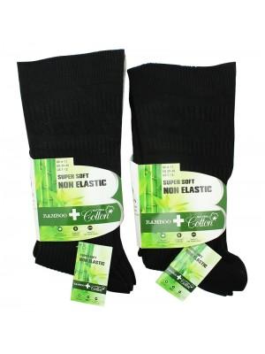 Mens Bamboo Super Soft Non-Elastic Bamboo Socks - Black