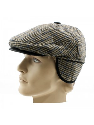 Mens Flat Caps With Ear Covers - Assorted Designs