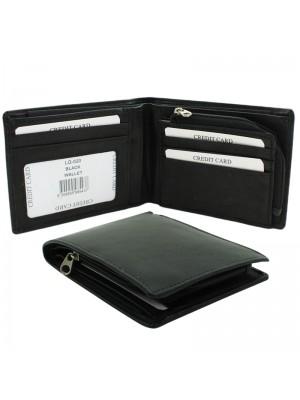 Men's Woodbridge RFID Genuine Leather Wallet - Black/Black