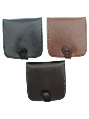 Mens Leather Buttoned Coin Tray - Assorted Colours