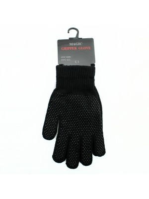 Mens Magic Gripper Gloves - Black