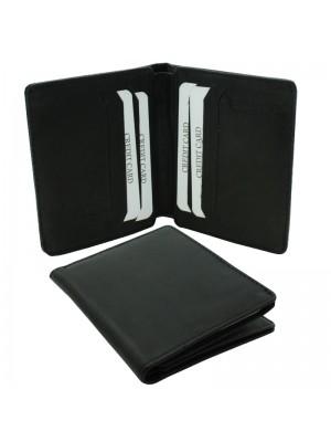 Mens RFID Woodbridge Genuine Leather Wallet 6 Card Slots - Black