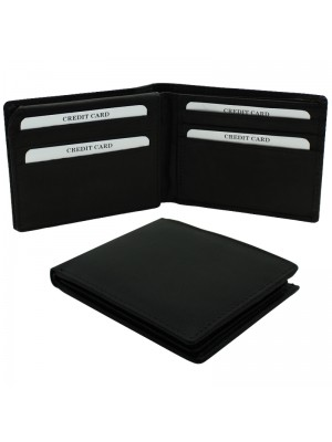 Mens RFID Woodbridge Genuine Leather Wallet 9 Card Slots - Black