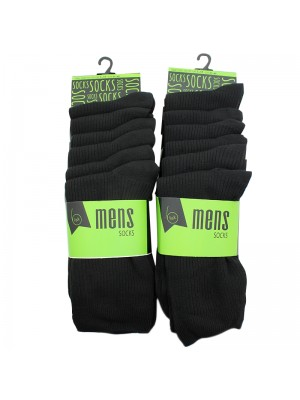 Mens Ribbed Socks - Black