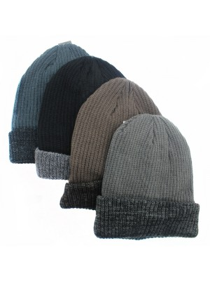 Mens Rockjock Thinsulated Two Tone Beanie Hats - Assorted Colours