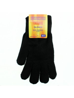 Mens Spandex Thermal Gloves - Black