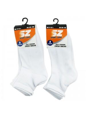 Mens Sport Zone Cushion Socks - White