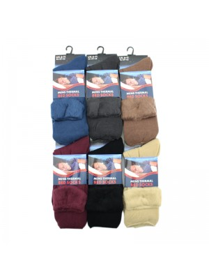 Mens Thermal Bed Socks - Assorted Colours
