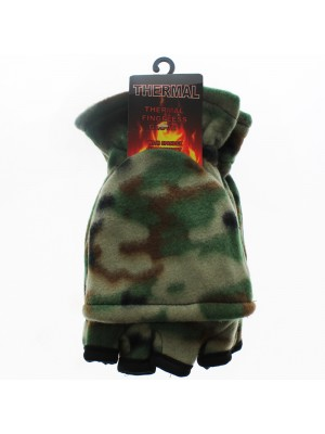 Mens Thermal Capped Gloves - Camouflage