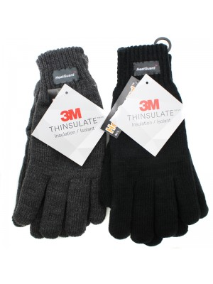 Mens Thinsulate Knitted Gloves - Assorted Colours & Sizes