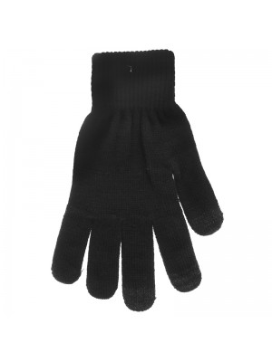 Mens Touch Screen Gloves - Black