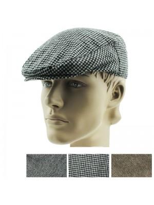 Mens Tweed Design Flat Caps