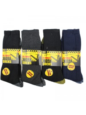 Mens Ultimate Work Socks - Assorted Colours