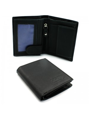Mens Woodbridge Leather Wallet - Black