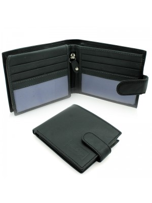Mens Woodbridge Leather Wallets - Black