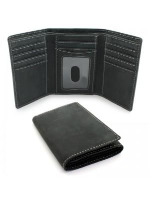 Mens Woodbridge RFID Protected Genuine Leather - Black
