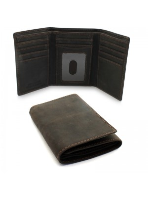 Mens Woodbridge RFID Protected Genuine Leather - Brown