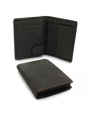 Mens Woodbridge RFID Protected Genuine Leather Wallet - Brown