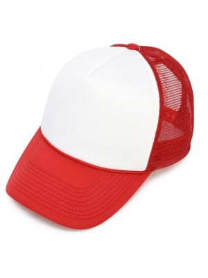 Plain Trucker Mesh Adjustable Baseball Cap