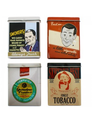 Metal Cigarette Cases- Retro Print Assortment