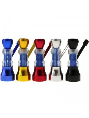 Wholesale Metal Mini H-Bubbler Pipe - Assorted Colours