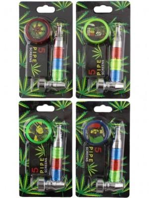 Wholesale Three-Tone Metal Pipe Set - Assorted Colours
