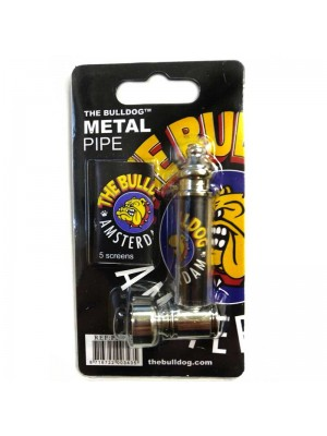 Wholesale Metal Smoking Pipe - The Bulldog - 7cm